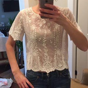 Polo Ralph Lauren lace crop top